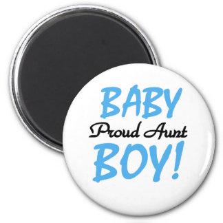 Tía orgullosa del bebé imán redondo 5 cm