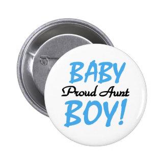 Tía orgullosa del bebé pin redondo 5 cm