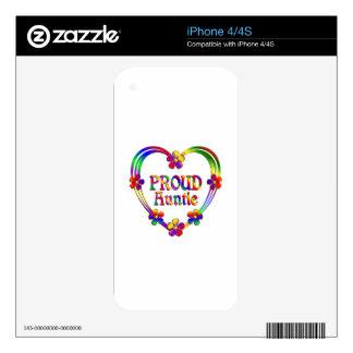 Tía orgullosa Heart Calcomanía Para El iPhone 4