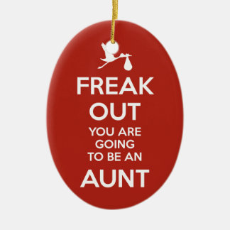 Tía Ornament Christmas de la invitación del Adorno Navideño Ovalado De Cerámica