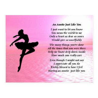 Tía Poem - bailarina Postales