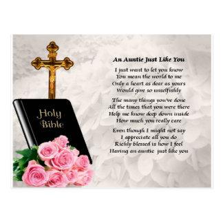 Tía Poem - biblia y rosas Tarjetas Postales