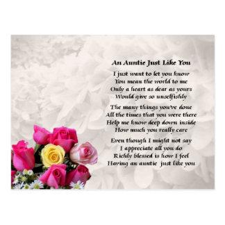Tía Poem - diseño de los rosas Tarjetas Postales