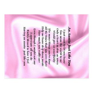 Tía Poem Pink Silk Postal
