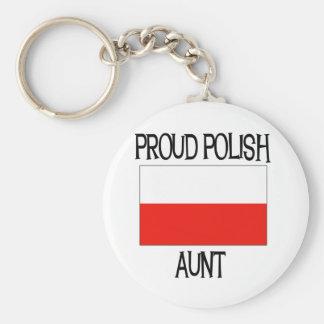 Tía polaca orgullosa llaveros personalizados