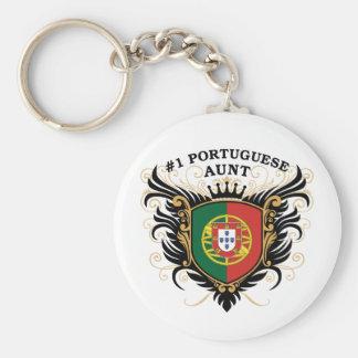 Tía portuguesa del número uno llaveros personalizados