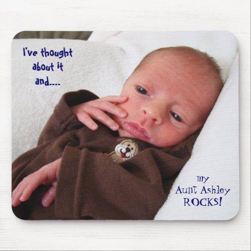 Tía Rocks My tía Rocks del mousepad del bebé