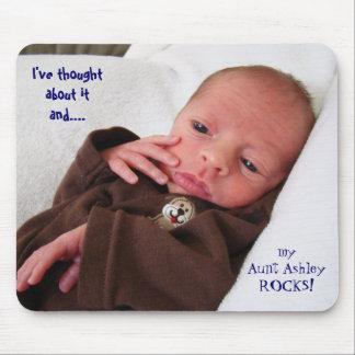 Tía Rocks My tía Rocks del mousepad del bebé Alfombrilla De Ratón