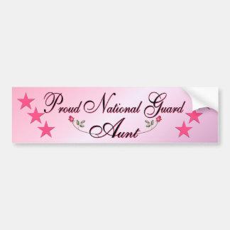 Tía rosada y orgullosa pegatina para el parachoque etiqueta de parachoque