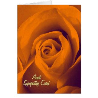 Tía, tarjeta de condolencia