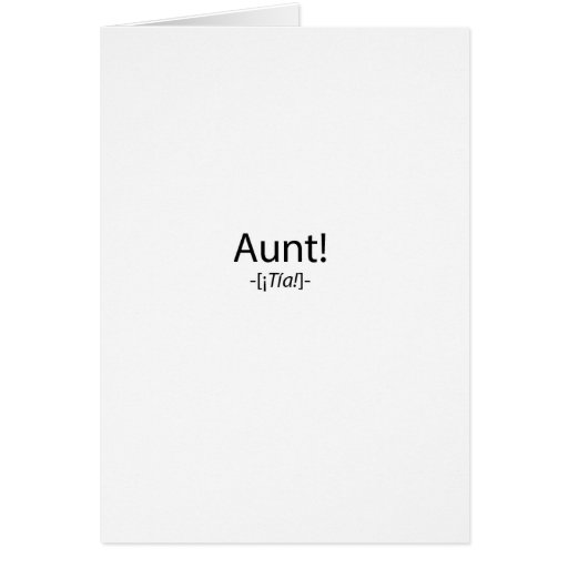 ¡Tia! Tarjeta De Felicitación