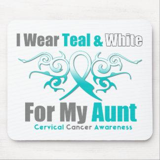 Tía tribal de la ayuda de la cinta del cáncer de c mouse pads