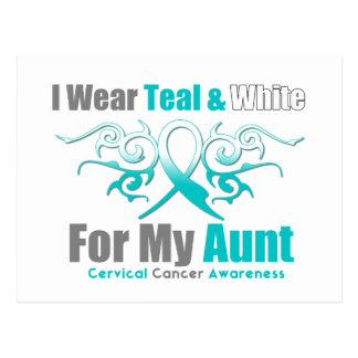 Tía tribal de la ayuda de la cinta del cáncer de c postales
