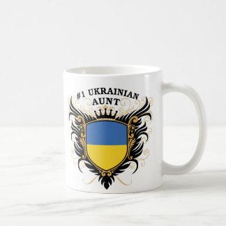 Tía ucraniana del número uno tazas