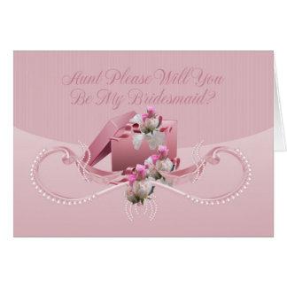 Tía - usted será mi tarjeta de felicitación de la