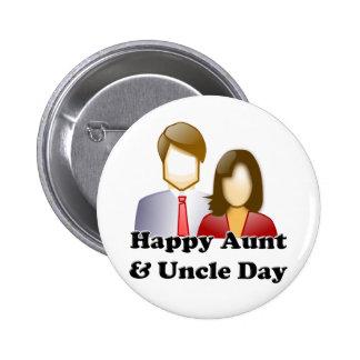 Tía y tío Day Chapa Redonda 5 Cm