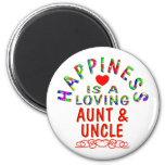 Tía y tío Happiness Imán De Nevera