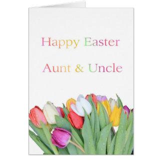 Tía y tío Happy Pascua Tarjeta De Felicitación