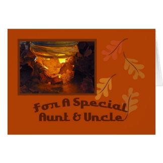 Tía y tío Thanksgiving Card Felicitación