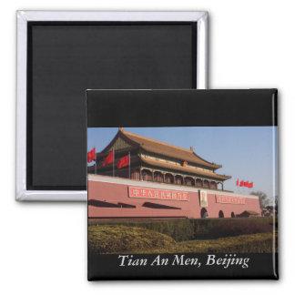 Tian An Men, Beijing 2 Inch Square Magnet