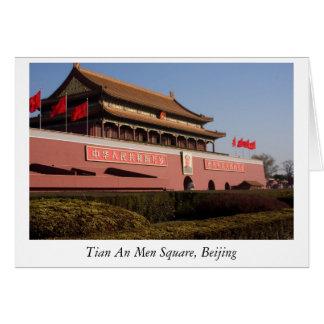 Tian An Men Square, Beijing Card