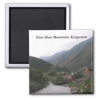Tian Shan Mountains, Kyrgyzstan 2 Inch Square Magnet