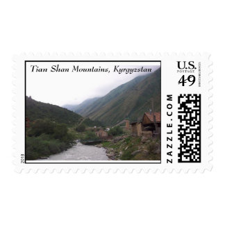 Tian Shan Mountains, Kyrgyzstan Postage Stamp