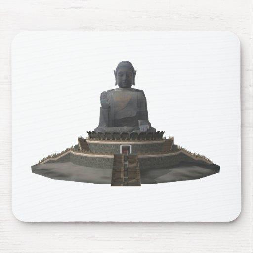 Tian Tan Buddha: Big Buddha: 3D Model: Mouse Pad