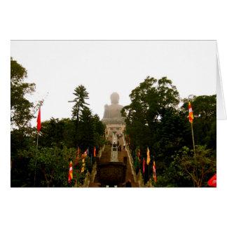 Tian Tan Buddha Greeting Card