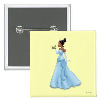 Tiana and Frog Button