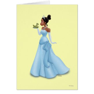 Tiana and Frog zazzle_card