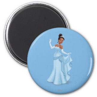 Tiana Blue 2 Inch Round Magnet