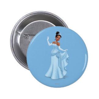 Tiana Blue 2 Inch Round Button