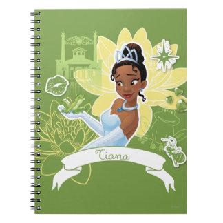 Tiana - cocinar para arriba un sueño libro de apuntes con espiral