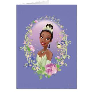 Tiana  Flower Frame Purple Greeting Card