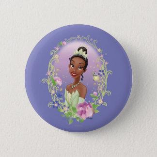 Tiana  Flower Frame Purple Pinback Button