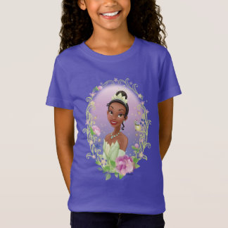 Tiana  Flower Frame Purple T-Shirt