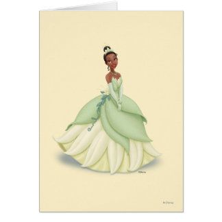 Tiana Green Dress Greeting Card