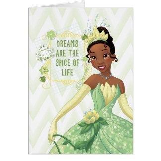 Tiana - los sueños son la especia de la vida tarjeta de felicitación