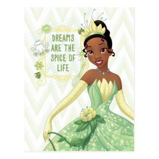 Tiana - los sueños son la especia de la vida tarjeta postal