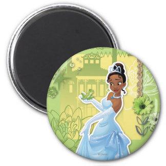 Tiana - princesa confiada imán redondo 5 cm