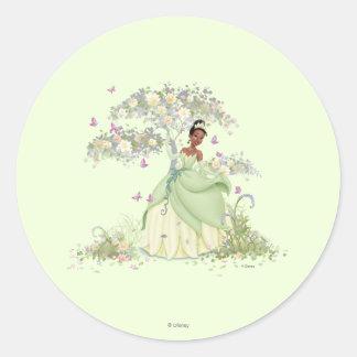 Tiana Under Tree Classic Round Sticker