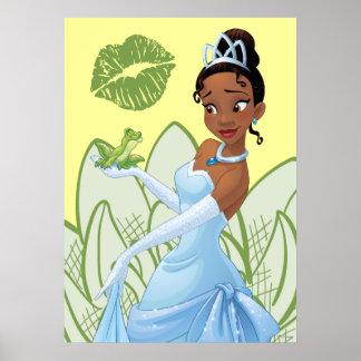 Tiana y el príncipe de la rana póster
