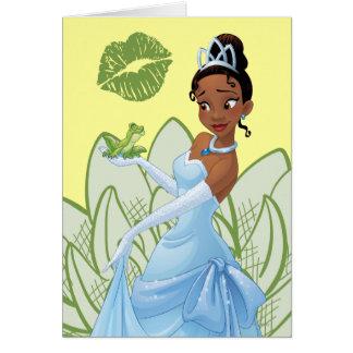 Tiana y el príncipe de la rana tarjeta de felicitación