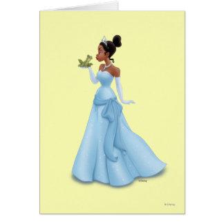 Tiana y rana tarjeta de felicitación