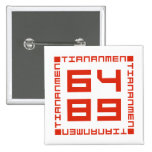 Tiananmen Square 6/4/1989 2 Inch Square Button
