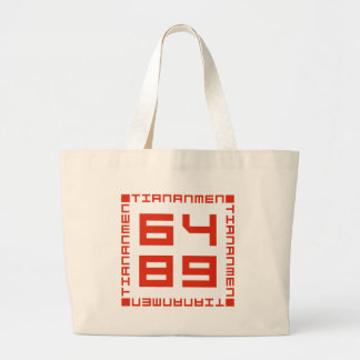 Tiananmen Square 6/4/1989 Large Tote Bag