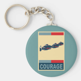 Tiananmen Square Iconic Pop Art Products Basic Round Button Keychain
