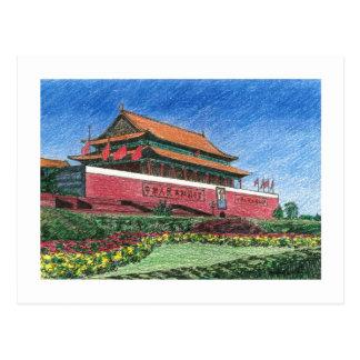 Tiananmen Tarjeta Postal