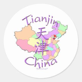 Tianjin China Classic Round Sticker